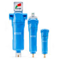 Blue coalescing filter range with three different sizes