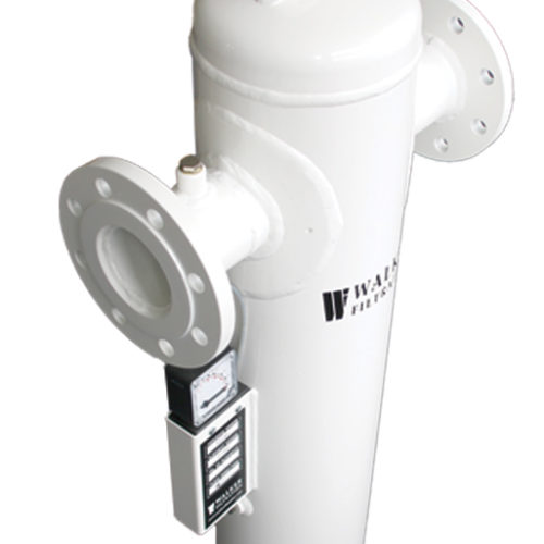 Fabricated Flanged Medical Vacuum Filters Close Up