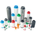 Group shot of compressed air filter elements