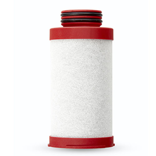 Red compressed air filter element