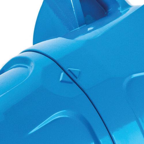 Blue alloy high pressure filter housing closure