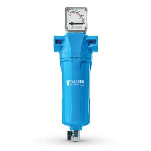 Blue vacuum pump exhaust filter