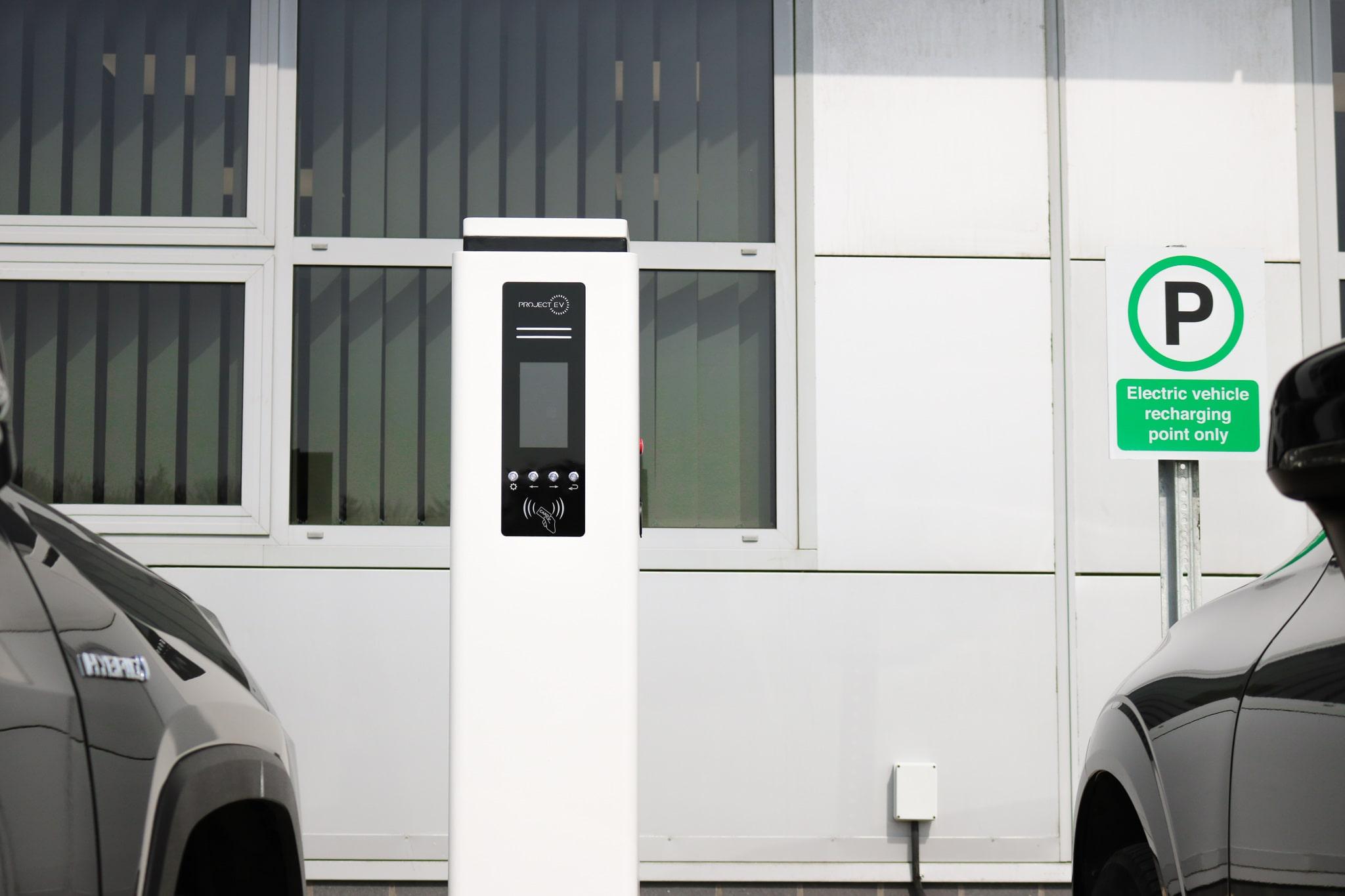 EV charging station - Walker Filtration Sustainable Future